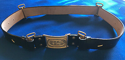M1872 Infantry Leather Belt with US Buckle Size LARGE (42-48) Indian Wars