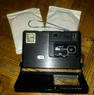 VINTAGE 1980s KODAK DISC 6000 CAMERA with 2 sealed film packets