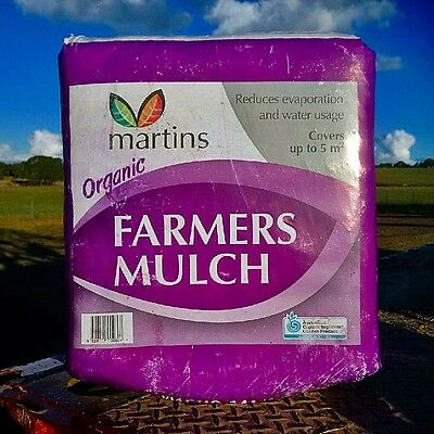 Organic Garden Farmers Mulch in bags Gardens veggie patch fruit