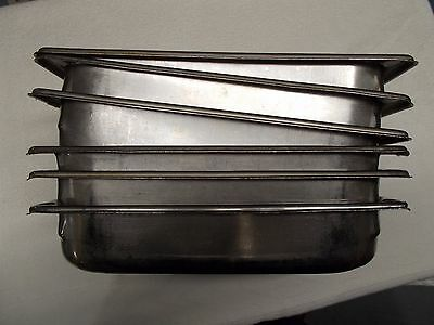SIX EACH, 1/3 Size Hotel STEAM TABLE Pan's