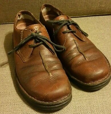Clarks Mens 11 M FLYER Brown Leather Lace Up Oxford Active Air Moc Shoe