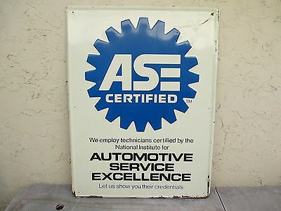 """Large Ase Certified Technician Automotive Tin Sign  31 1/2"""" X 23 1/2"""""""