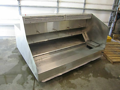 "69"" Stainless Steel Restaurant Exhaust Hood Ansul Ready & Includes Filters"