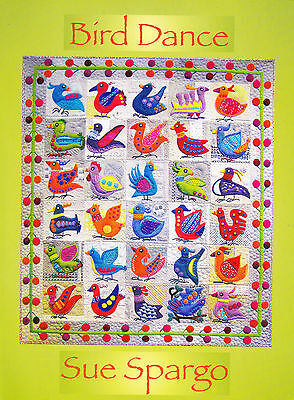 Bird Dance- applique & embellishment quilt book - Sue Spargo