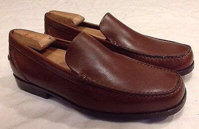 NEW Mens ROCKPORT Brown Leather Loafers Size 9.5 M