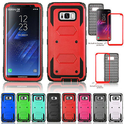 Armor Defender Rugged Hard Protecive Case Cover For Samsung Galaxy S8 Plus Red