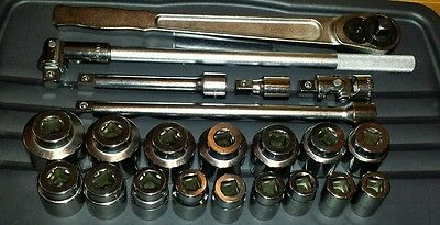 """Williams Snap On Industrial Brands WSH-22 3/4"""" Drive SAE Socket Set USA"""