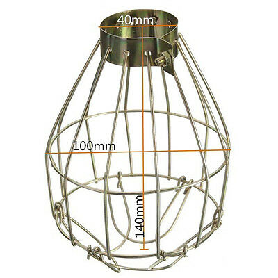 Iron Wire Bulb Cage Clamp On Old Look Vintage Lighting Steampunk US