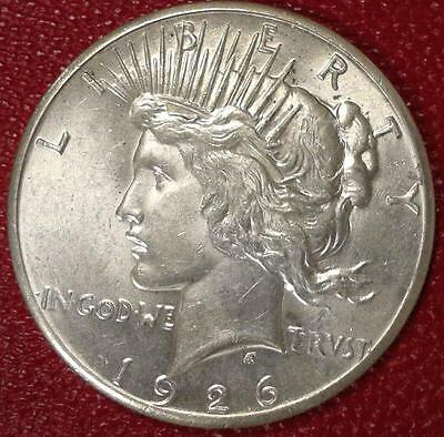 **better Date***1926 P Peace Silver Dollar Bu #b229