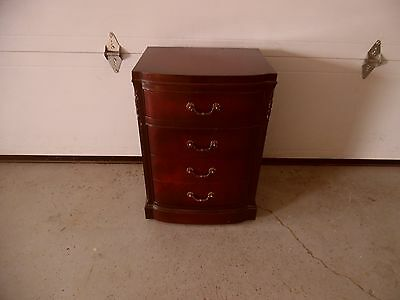 MAHOGANY NIGHTSTAND 3 Drawer Cabinet Bedside Chest Nightstand VINTAGE