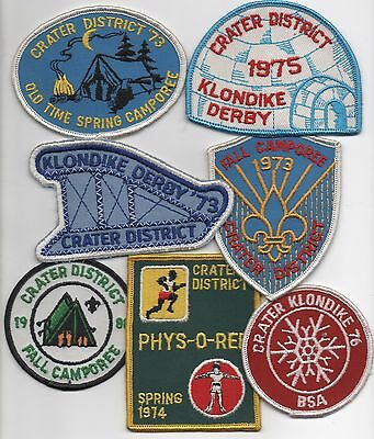 Robert E Lee Council (now Heart of VA.) Crater Dist. Patch Lot of 7 (1973-1980)