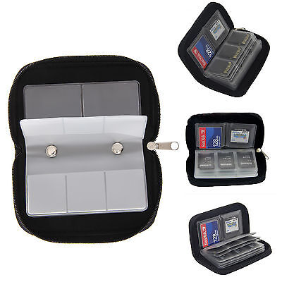 Memory Card Wallet - Micro SD SDHC CF SM - Protective Storage Holder Pouch Case