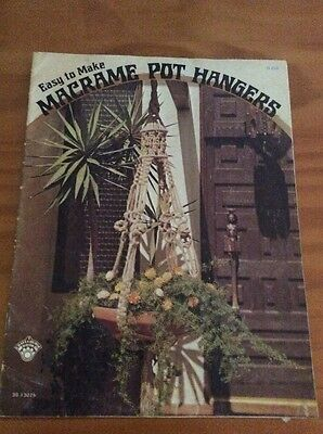 "Vintage 1974 Macrame Pattern Book ""macrame Pot Hangers"" There Are 13 Projects"