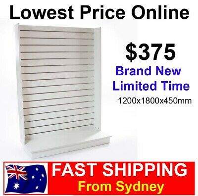 Premium Single Wall Slat Panel Gondolas Brand New!