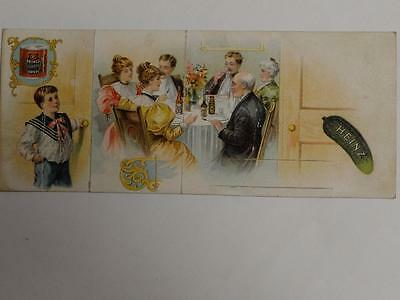 Heinz Pickle Trade Card Mechanical Open the Door to the Dinning Room  B1S1