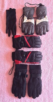 Ski Gloves - 3 pairs available - varying in size and colours