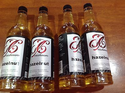 4x Hazelnut Coffee Syrup 750 ML Use By 13/06/2018