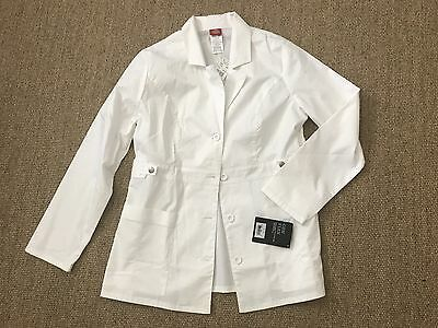 "Dickies 28"" Lab Coat 82408 Jr Fit White Size M"
