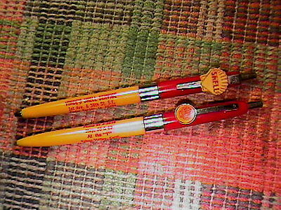 Lot Of 2 Shell Gasoline Service Station Logo Clip Ball Point Pens
