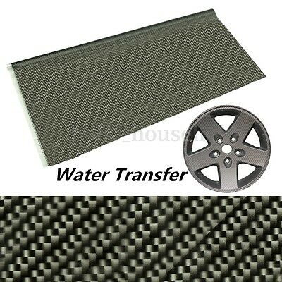 Black Carbon Fiber Water Transfer Dipping Hydrographics Hydro Film Print Decor