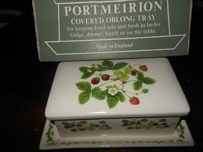 "PORTMEIRION ""STRAWBERRY"" Boxed Covered Butter Dish- MINT~rrp $189.00"