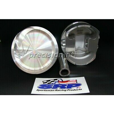 SRP 285867 8CYL SRP FORGED DISH PISTONS 125 -12cc FORD 411C STROKER