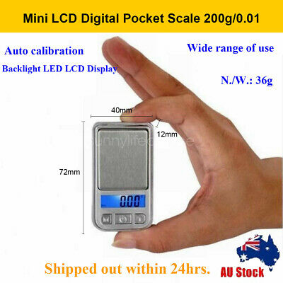 Ultrathin 200g/0.01 electronic Scale Jewelry Digital Pocket Scale g oz ct tl