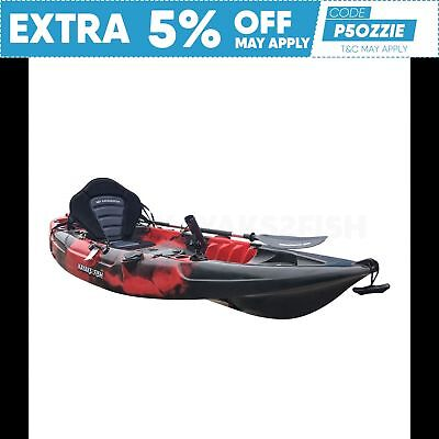 2.7M Fishing Kayak Single 2017 Sit On Top Seat Paddle Package Newcastle Redback