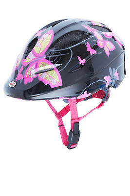 bell kinder fahrradhelm dart black pink butterflies s 50. Black Bedroom Furniture Sets. Home Design Ideas