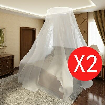 2pc Mosquito Net Bed Dome Canopy Insect Fly Bug Screen Curtain Princess Netting