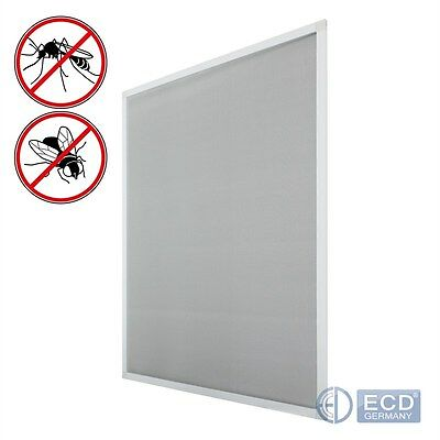 WINDOW INSECT NET WHITE COLOUR 120 x 140cm MOSQUITO NETTING MESH CLAMP MOUNTING
