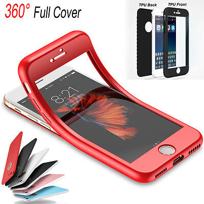360° Full Body TPU Soft Shockproof Phone Case Cover For iPhone 6 6S 7 8 Plus HOT