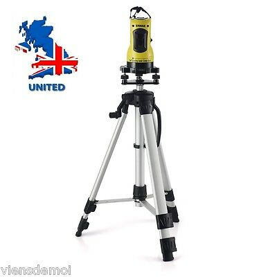 Laser Level +Tripod New 360° Self Leveling Red Cross Line Horizontal Vertical UK