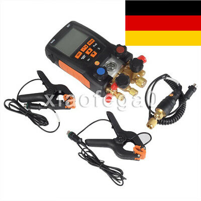Testo 557 Refrigerant Digital Manifold Tester Kit for 0563 1557 + 2 Clamp Probes