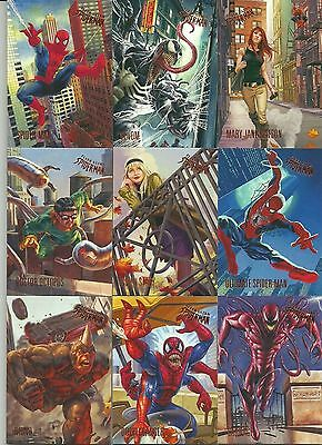 2017 Fleer Ultra Spiderman Marvel Complete Premium Base Card Set 100