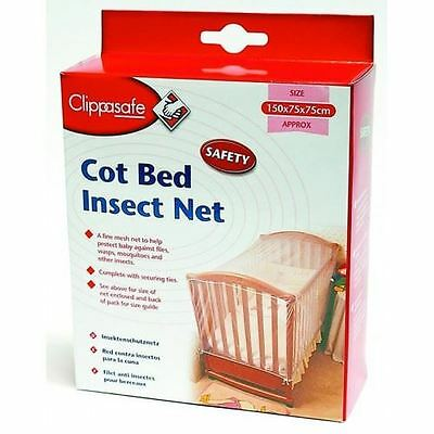 Clippasafe Cot Bed Insect Net Travel Cot Perfect For Holidays Baby Safety NEW