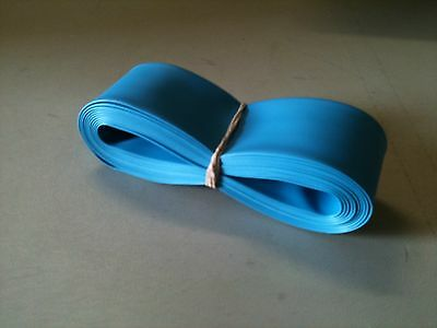 "1"" ID / 25mm ThermOsleeve BLUE Polyolefin 2:1 Heat Shrink tubing - 10' section"