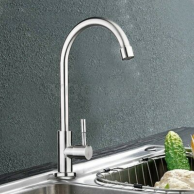 Chrome Kitchen 360° Swivel Single Handle Sink Faucet Spray Hot Cold Mixer Tap