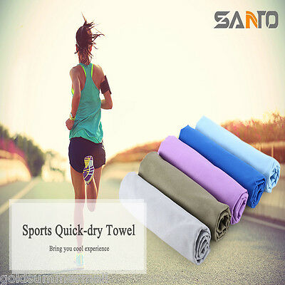 SANTO Outdoor Sport Soft Quick-dry Towel Washcloth for Swimming Running Travel