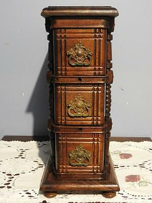 Antique Singer Treadle Sewing Machine Chest Of Drawers Cabinet Jewellery Box