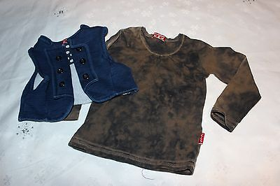 Baby Girls outfit -Long sleeve top & vest CLAESEN'S size 1