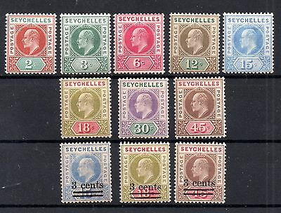 Seychelles KEVII 1903 mint LHM collection to 45c WS4678