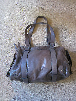 WITCHERY Brown Leather Shoulder Bag