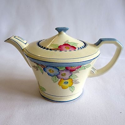 Crown Devon Fieldings Art Deco Teapot Floral