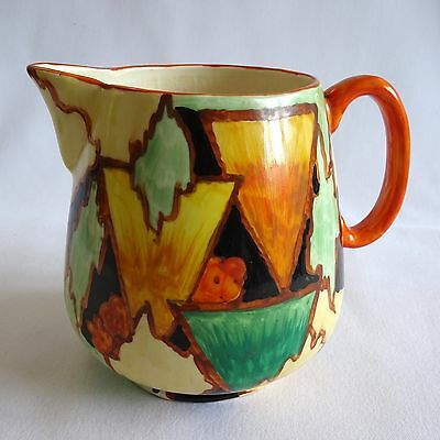 T. Dean & Sons Art Deco Pottery Jug Vintage Hand Painted