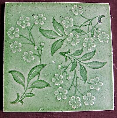 "Antique Emaux Ombrants 6"" Tile by PILKINGTON RD 1902"