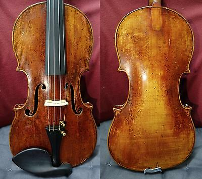 4/4 Very Old Fine Violin Fully Restored Very Nice Tone!! Old label Ready 2 Play