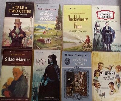 Lot of 20 Airmont Classics vintage paperbacks Twain, Dickens, London, Shakespear