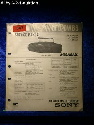 Sony Service Manual CFD DW83 Cassette Corder (#0347)