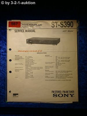 Sony Service Manual ST S390 Tuner  (#0567)